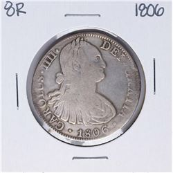 1806-TH Mexico 8 Reales Carolus IIII Silver Coin