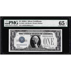 1928A $1 Funnyback Silver Certificate Note Fr.1601 PMG Gem Uncirculated 65EPQ