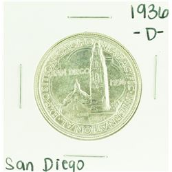 1936-D San Diego Exposition Commemorative Half Dollar Coin