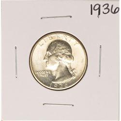 1936 Washington Quarter Coin