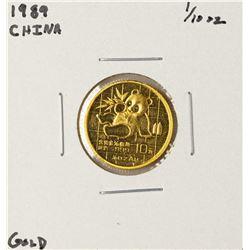 1989 China Panda 1/10 oz Gold Coin