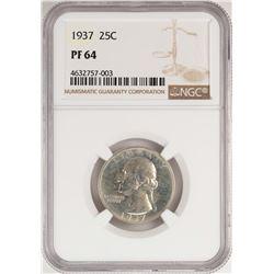 1937 Proof Washington Quarter Coin NGC PF64