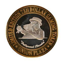 .999 Silver Plaza Hotel & Casino Nevada $10 Gaming Token Limited Edition