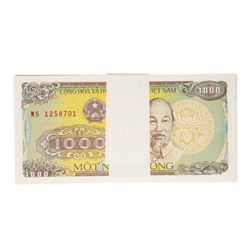 Pack of (100) Uncirculated 1988 Vietnam 1000 Dong Bank Notes