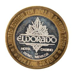 .999 Silver Eldorado Hotel and Casino $10 Casino Gaming Token Limited Edition
