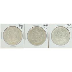 Lot of 1881-O to 1883-O $1 Morgan Silver Dollar Coins