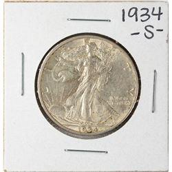 1934-S Walking Liberty Half Dollar Coin