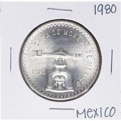 1980 Mexico Casa De Moneda Onza Silver Coin