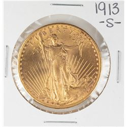 1913-S $20 St. Gaudens Double Eagle Gold Coin