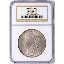 1899-O $1 Morgan Silver Dollar Coin NGC MS65