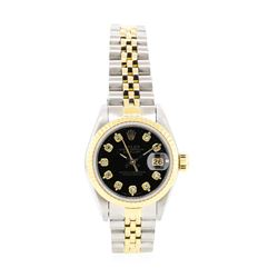 14KT Yellow Gold and Stainless Steel Ladies Rolex Oyster Perpetual Datejust Wristwatch