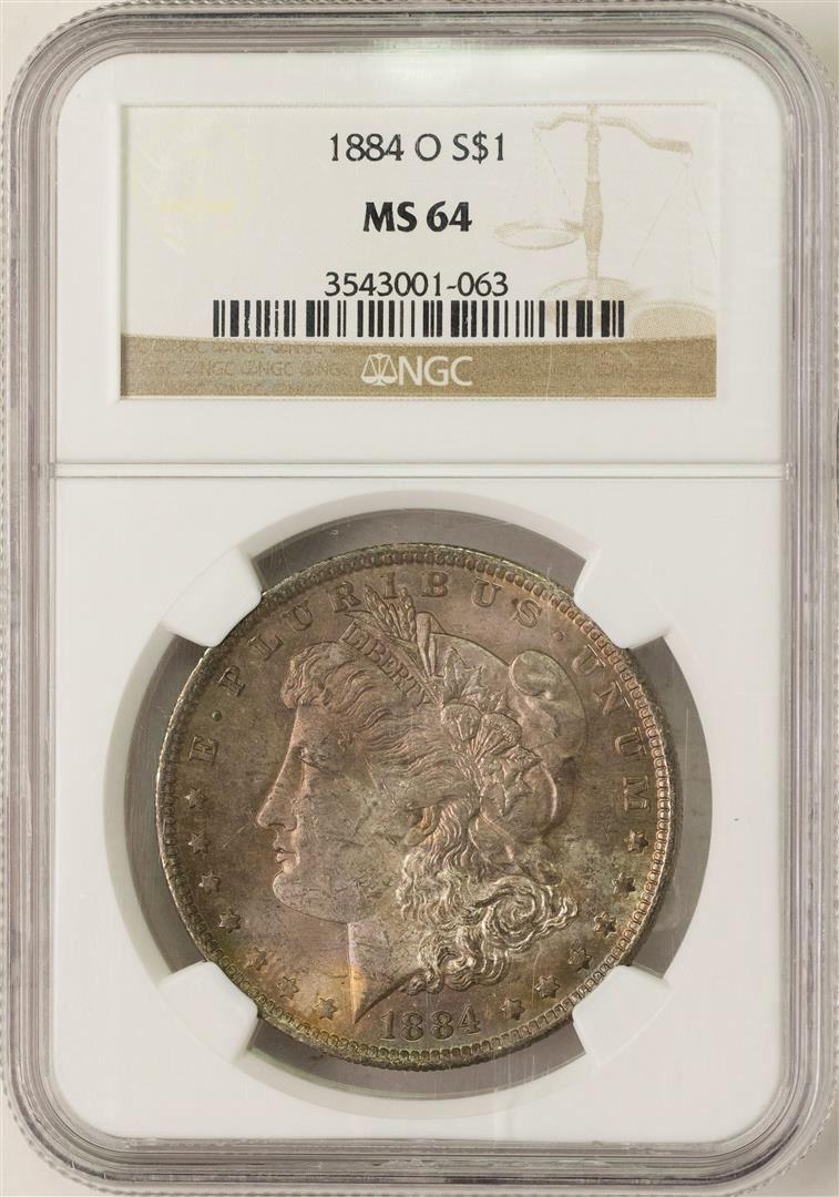 NGC Morgan Silver Dollar PLUS 1884-O MS64+