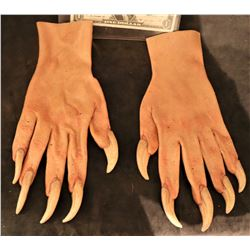 X-MEN SABRETOOTH SCREEN USED STUNT STAGE 3 SILICONE GLOVES WITH CLAWS 2