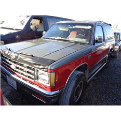 CHEVROLET BLAZER 1987 T-DONATION