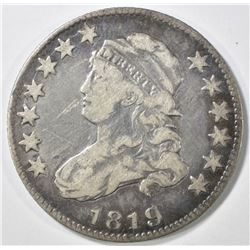 1819 BUST QUARTER VF SCRATCH