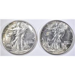 2- 1944-S WALKING LIBERTY HALF DOLLAR