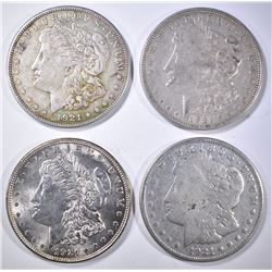 3-1921 & 1-21-S CIRC MORGAN DOLLARS