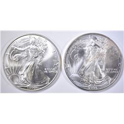 1994 & 98 BU AMERICAN SILVER EAGLES