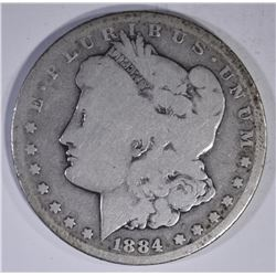 1884-CC MORGAN DOLLAR  AG