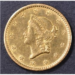1850-O $1 GOLD LIBERTY  ORIG UNC  OLD CLEANING