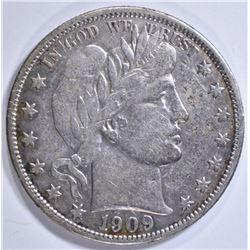 1909 BARBER HALF DOLLAR  XF