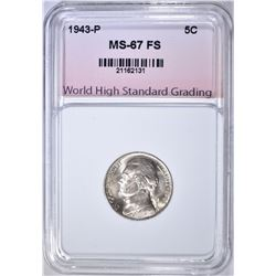1943-P SILVER JEFF. NICKEL WHSG SUPERB GEM BU FS