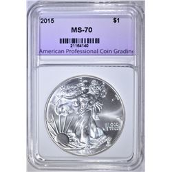 2015 AMERICAN SILVER EAGLE APCG PERFECT GEM BU
