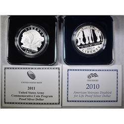 2010 DISABLED VETS & 2011 ARMY PROOF DOLLARS