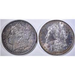 1888-O BU & 1890 XF MORGAN DOLLARS