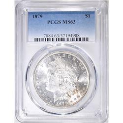 1879 MORGAN DOLLAR  PCGS MS-63