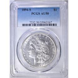 1894-S MORGAN DOLLAR  PCGS AU-50