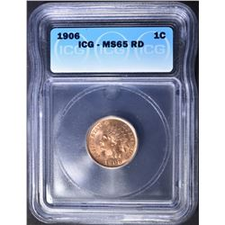 1906 INDIAN CENT  ICG MS-65 RD
