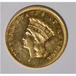1880 $3 GOLD CH BU PROOF LIKE