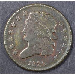 1829 HALF CENT   CH AU