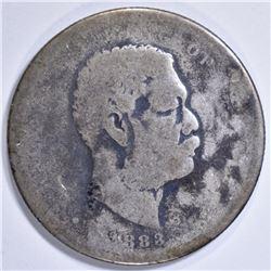 1883 HAWAII HALF DOLLAR AG
