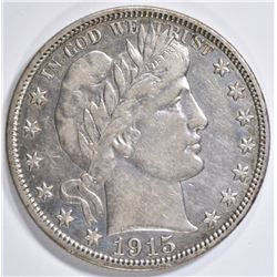 1915-S BARBER HALF DOLLAR AU