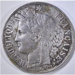 1850 5 FRANCS FRANCE PARIS MINT