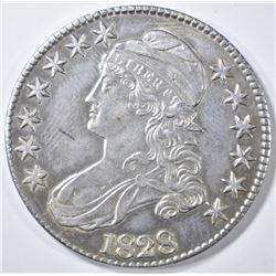 1828 BUST HALF DOLLAR  AU/BU