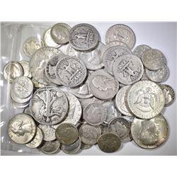 $10.00 FACE VALUE MIXED 90% SILVER U.S. COINS
