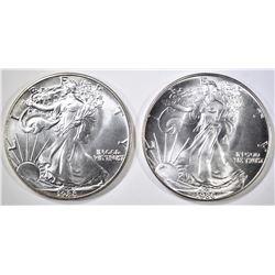 1986 & 88 AMERICAN SILVER EAGLES