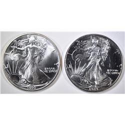 1989 & 90 AMERICAN SILVER EAGLES