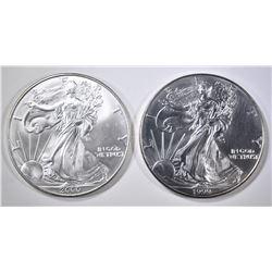 1999 & 2000 AMERICAN SILVER EAGLES