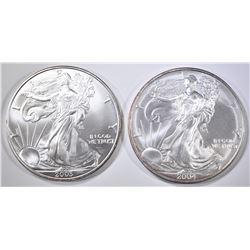 2003 & 2004 AMERICAN SILVER EAGLES