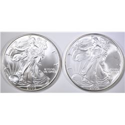 2005 & 2006 AMERICAN SILVER EAGLES