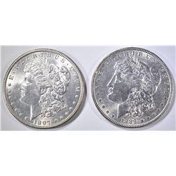 1897 & 1889 MORGAN DOLLARS CH BU