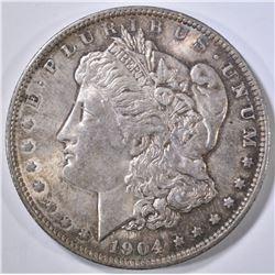 1904-O MORGAN DOLLAR CH BU TONED