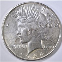 1934-D PEACE DOLLAR AU/BU