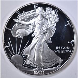1987-S PROOF AMERICAN SILVER EAGLE