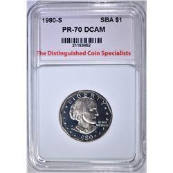 1980-S S.B.A. DOLLAR TDCS PERFECT GEM PR DCAM