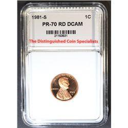 1981-S LINCOLN CENT, TDCS PERFECT GEM PR RED DCAM